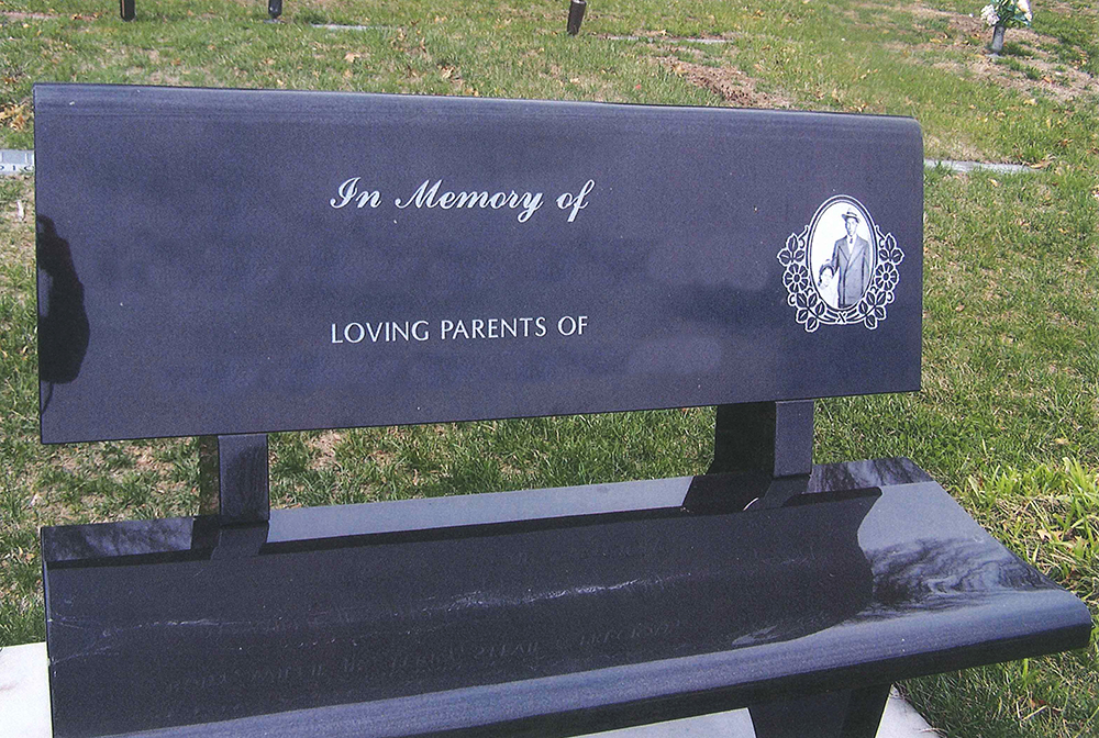 Gravestone Benches Part - 24: Black Park Bench, Granite